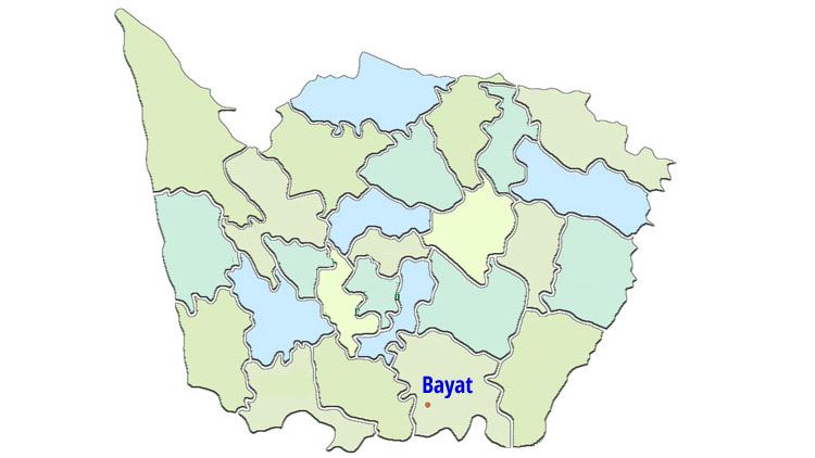 Peta kecamatan bayat