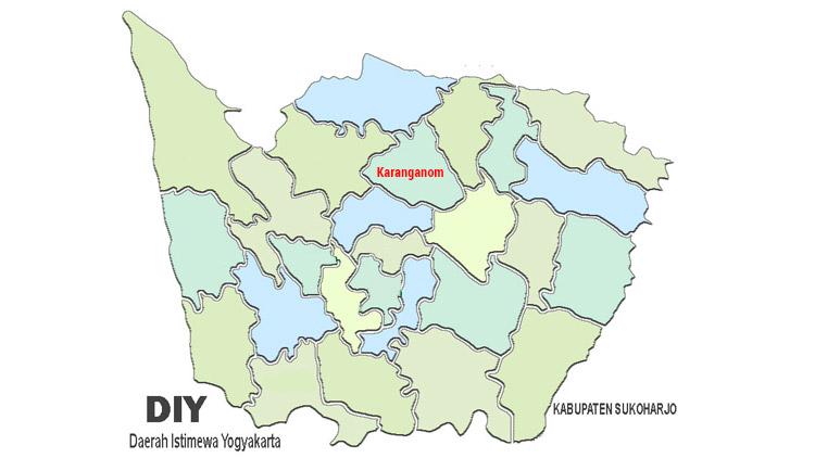 peta kecamatan karanganom