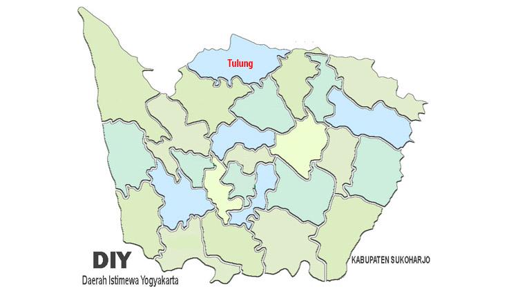 peta kecamatan Tulung
