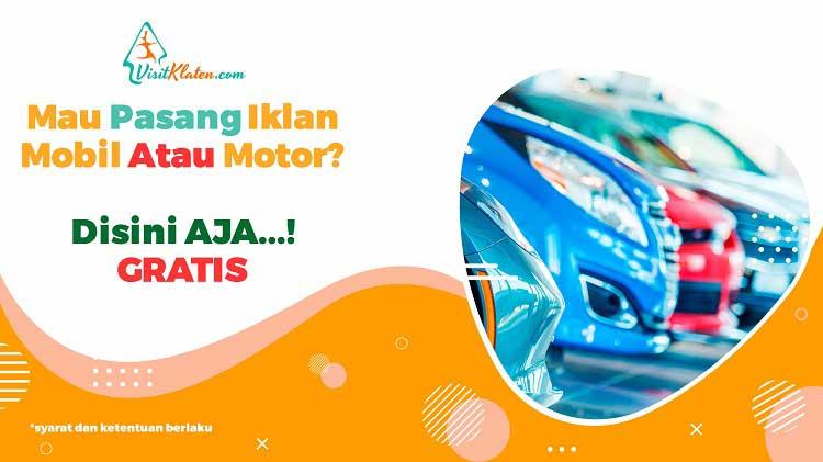 Mau Pasang Iklan Mobil Atau Motor
